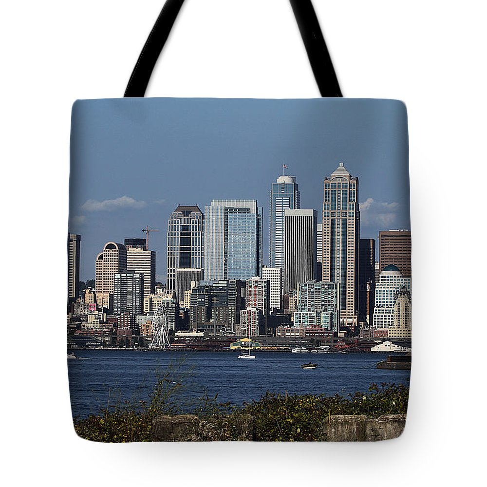 Today In Seattle Tote Bag featuring the photograph Today In Seattle by Tom Janca
