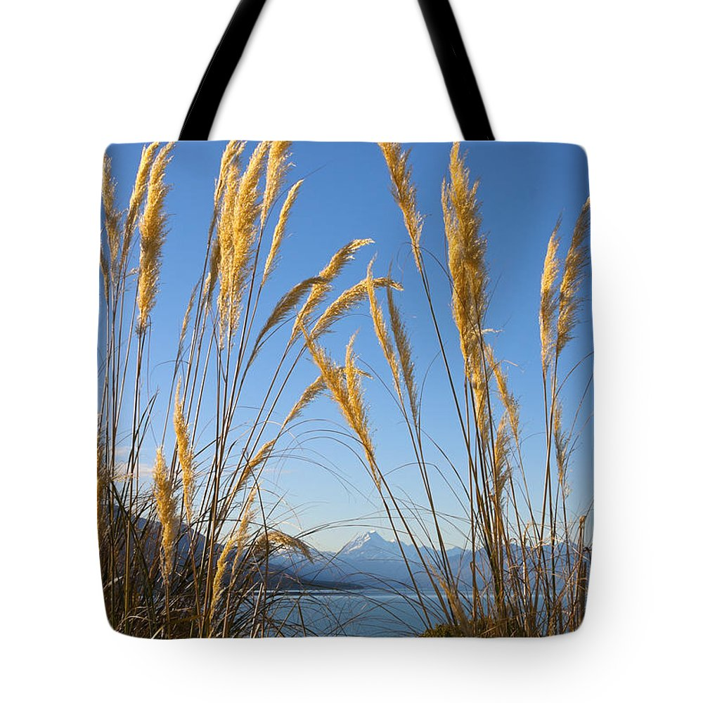 Toitoi Tote Bag featuring the photograph Toitoi And Mountain by Jenny Setchell