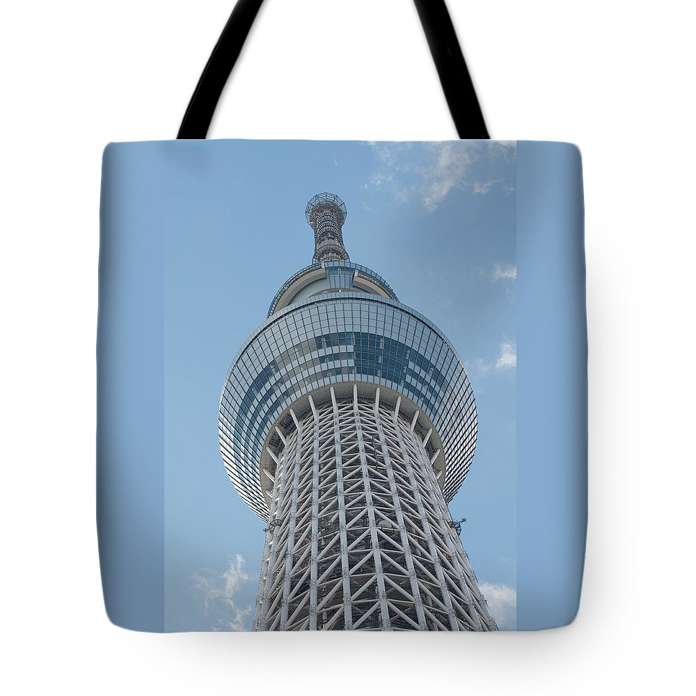 Architecture Tote Bag featuring the photograph Tokyo Skytree by Jill Mitchell