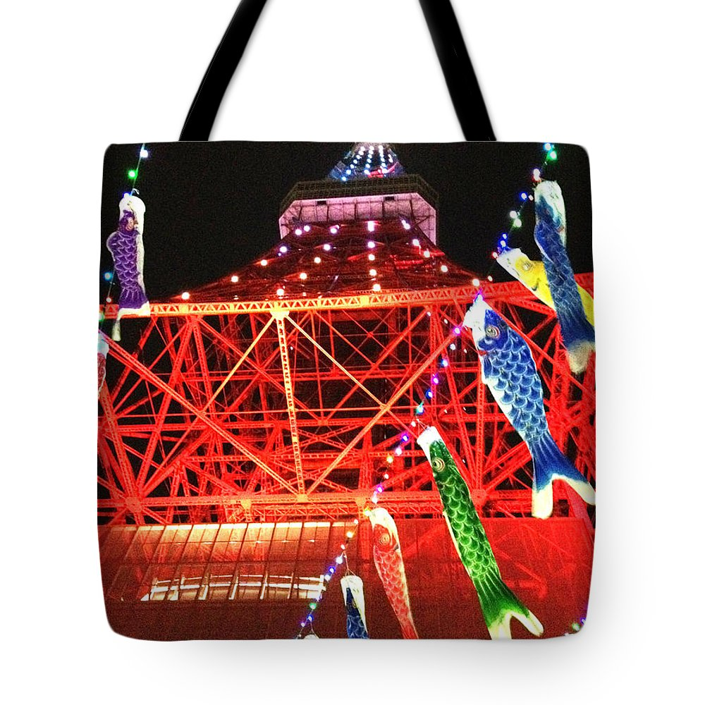 Tokyo Tower Tote Bag featuring the photograph Tokyo To Er With Ornaments by By Keisuke Takahashi.