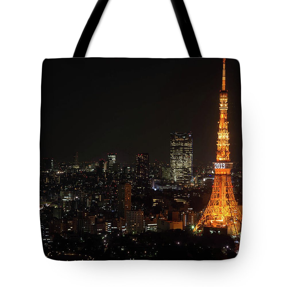 Tokyo Tower Tote Bag featuring the photograph Tokyo Tower by Kkshm