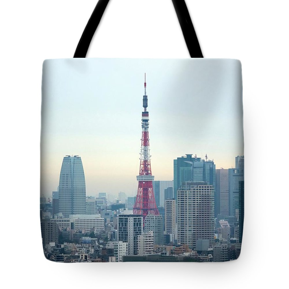 Tokyo Tower Tote Bag featuring the photograph Tokyo Tower by Simple