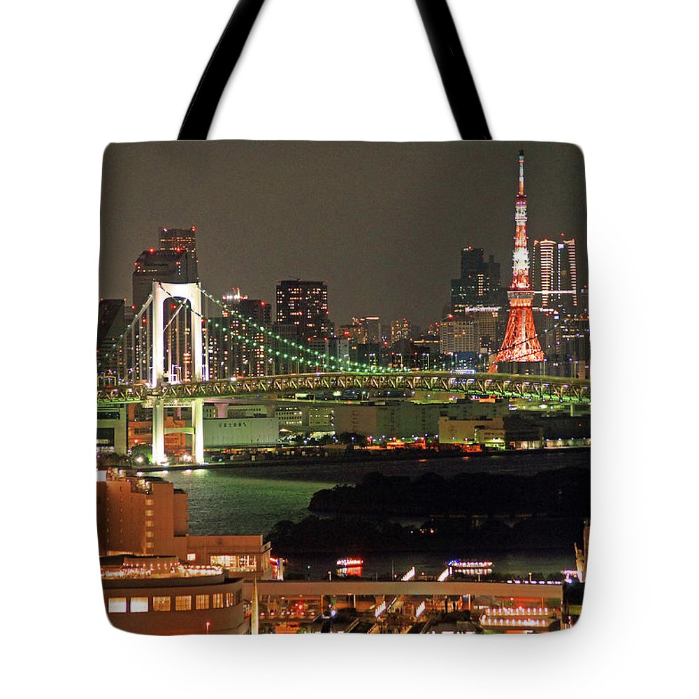 Tokyo Tower Tote Bag featuring the photograph Tokyo Tower by The Landscape Of Regional Cities In Japan.