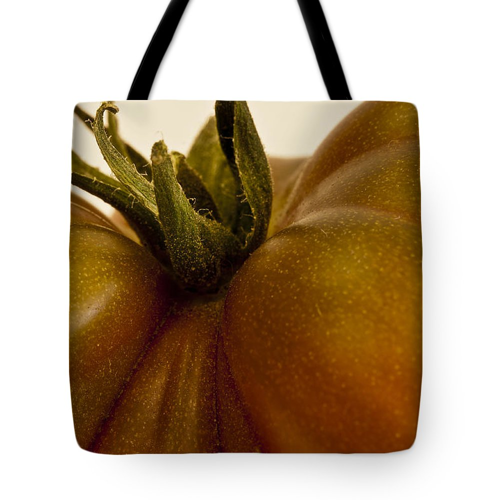 Tomato Tote Bag featuring the photograph Tomato Macro by Sandra Foster