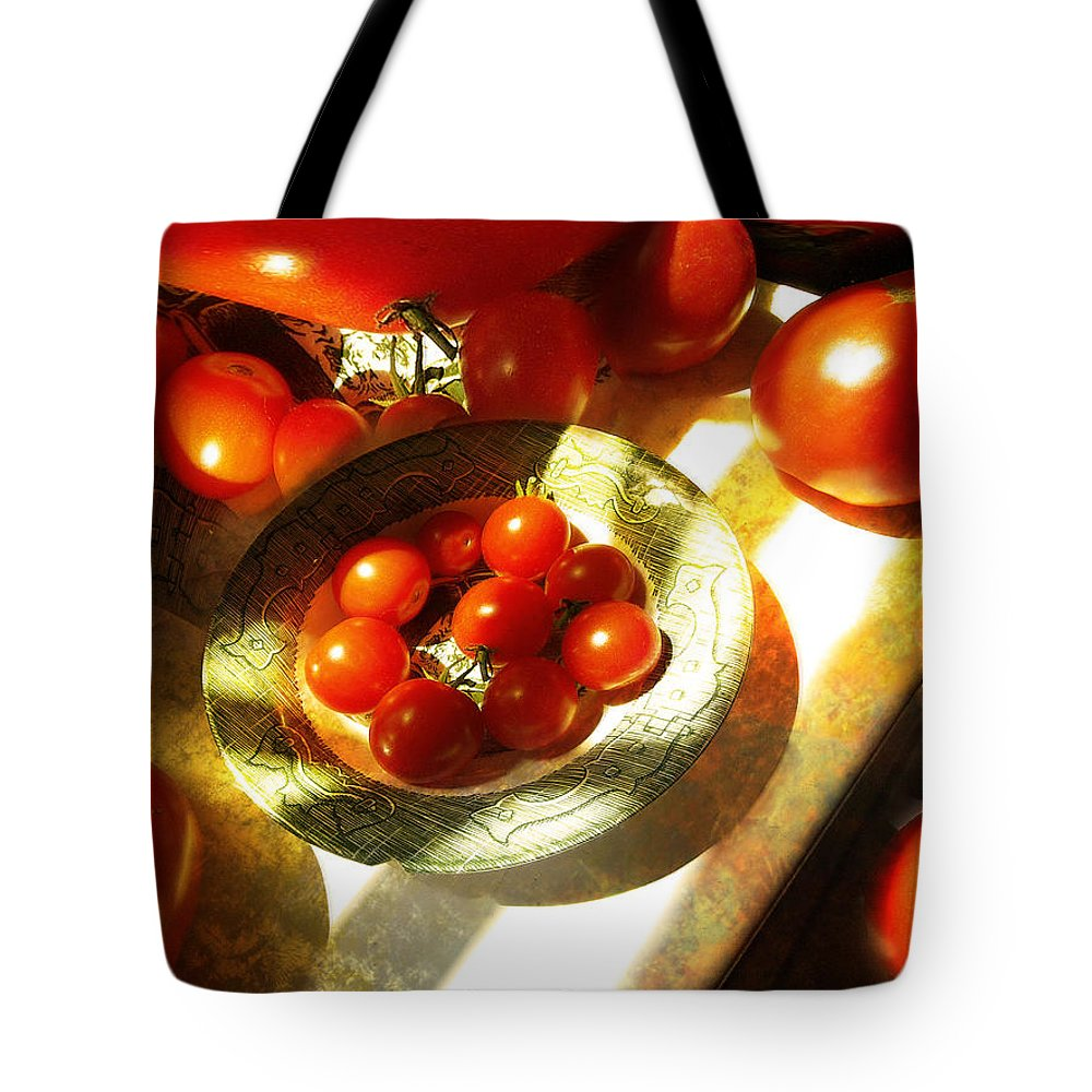 Still Life Tote Bag featuring the photograph Tomatoes by John Anderson