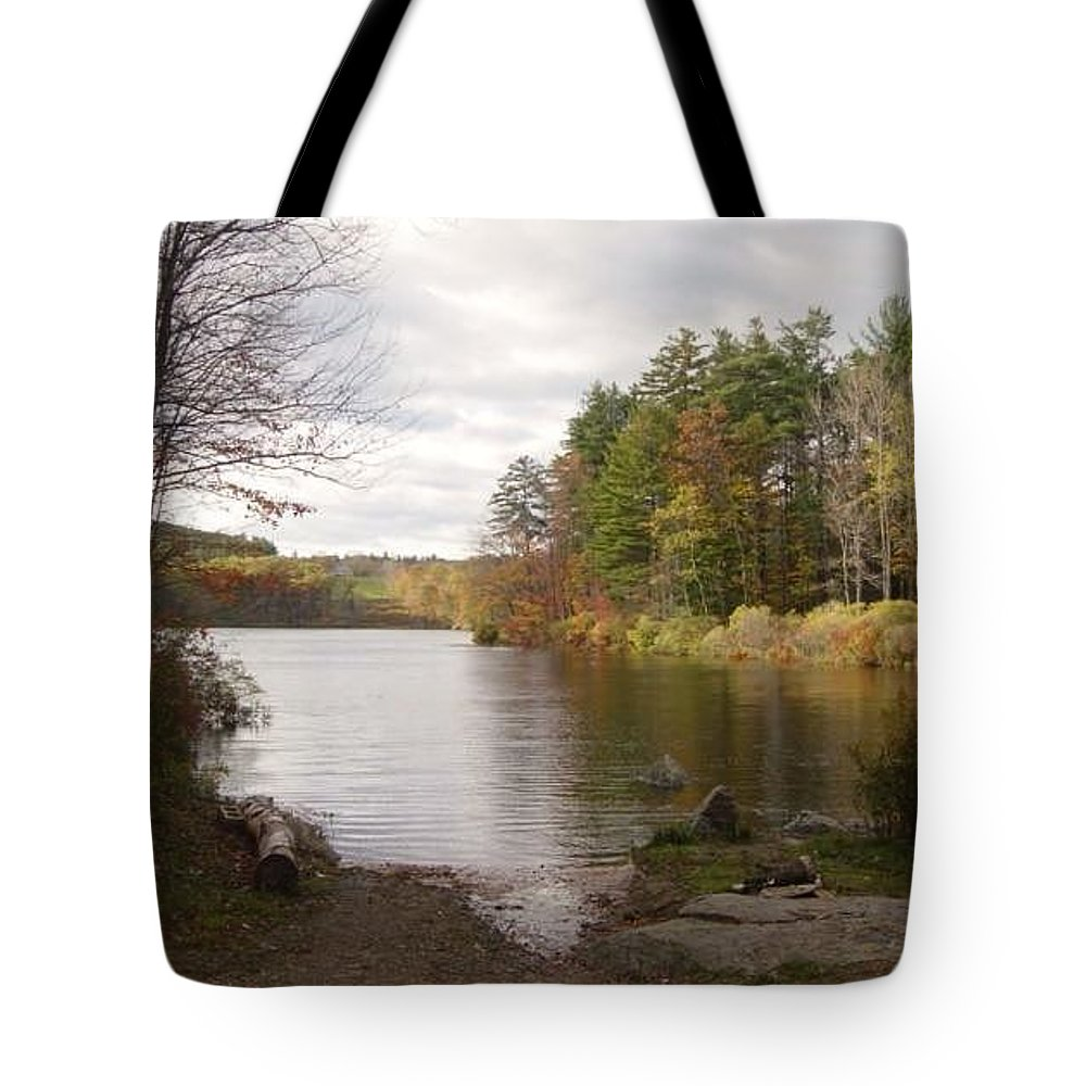 Tote Bag featuring the photograph Tomorrow I Bring My Chair by Brian S Boucher
