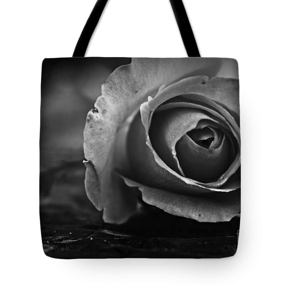Rose Tote Bag featuring the photograph Tones Of Grey by Clare Bevan