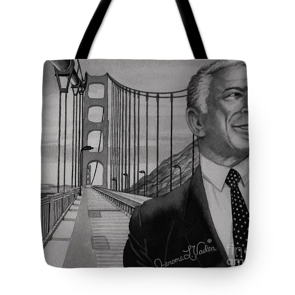 Singer Tote Bag featuring the painting Tony Bennett by JL Vaden