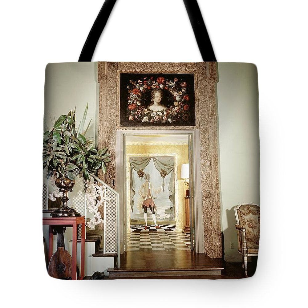 Antique Tote Bag featuring the photograph Tony Duquette's Entrance Hall by Shirley C. Burden