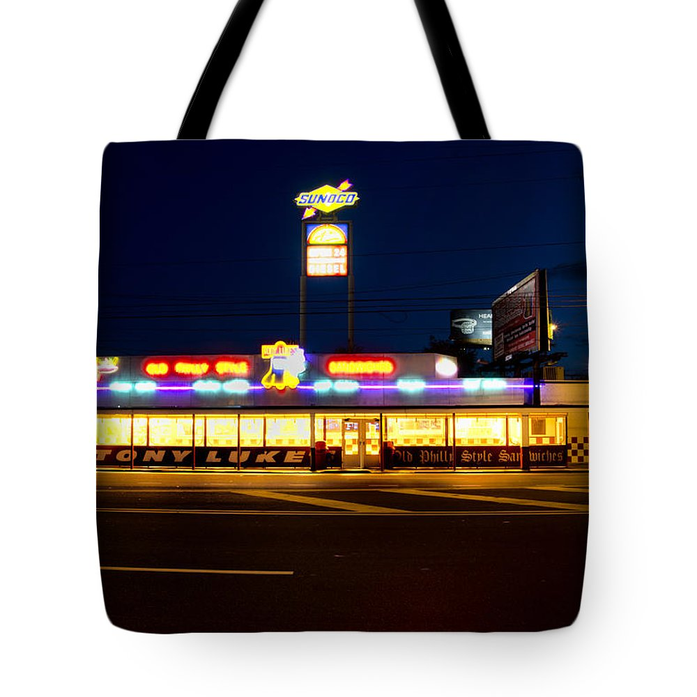 Tony Tote Bag featuring the photograph Tony Lukes - Cheese Steaks by Bill Cannon