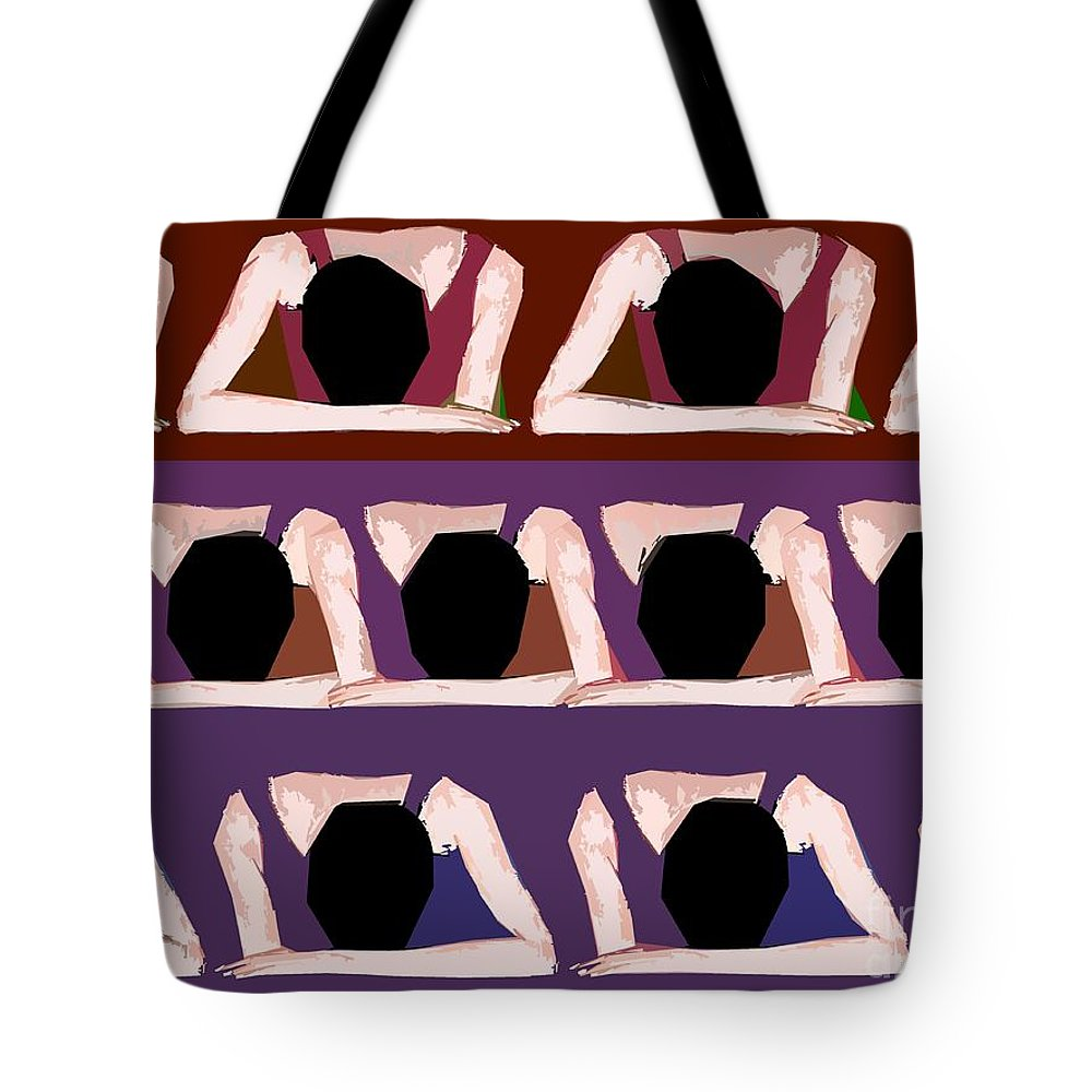 School Images Tote Bag featuring the painting Too Cool For School by Patrick J Murphy