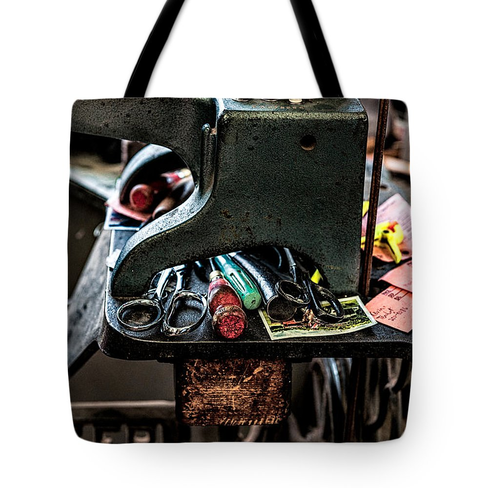 Christopher Holmes Photography Tote Bag featuring the photograph Tools by Christopher Holmes