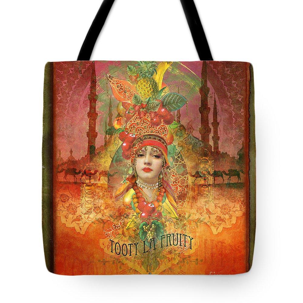 Aimee Stewart Tote Bag featuring the digital art Tooty La Fruity by Aimee Stewart