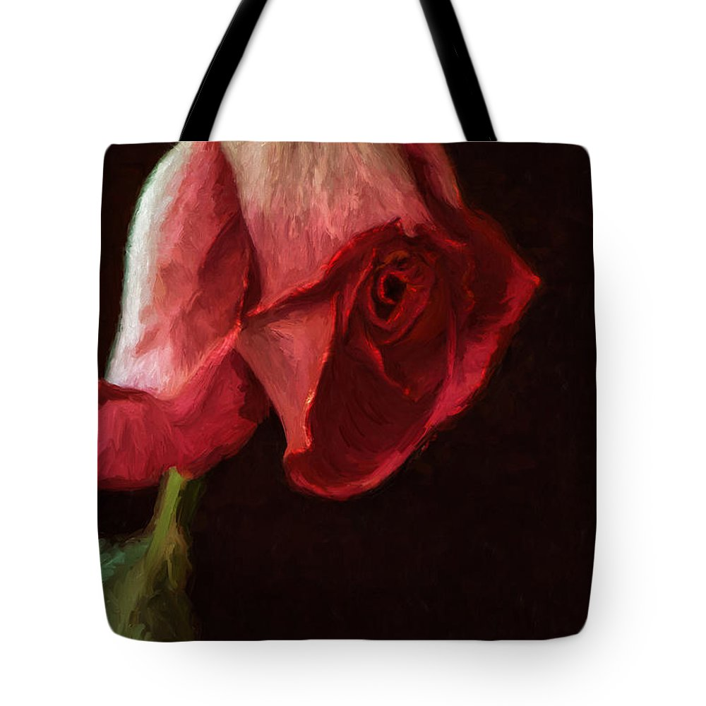 Rose Tote Bag featuring the photograph Top Heavy by Lois Bryan