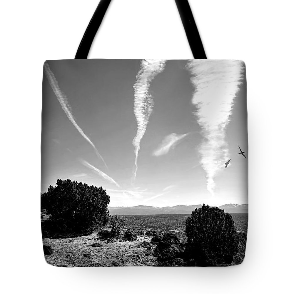 Landscape Tote Bag featuring the photograph Top Of White Rock Mountain by Diana Angstadt