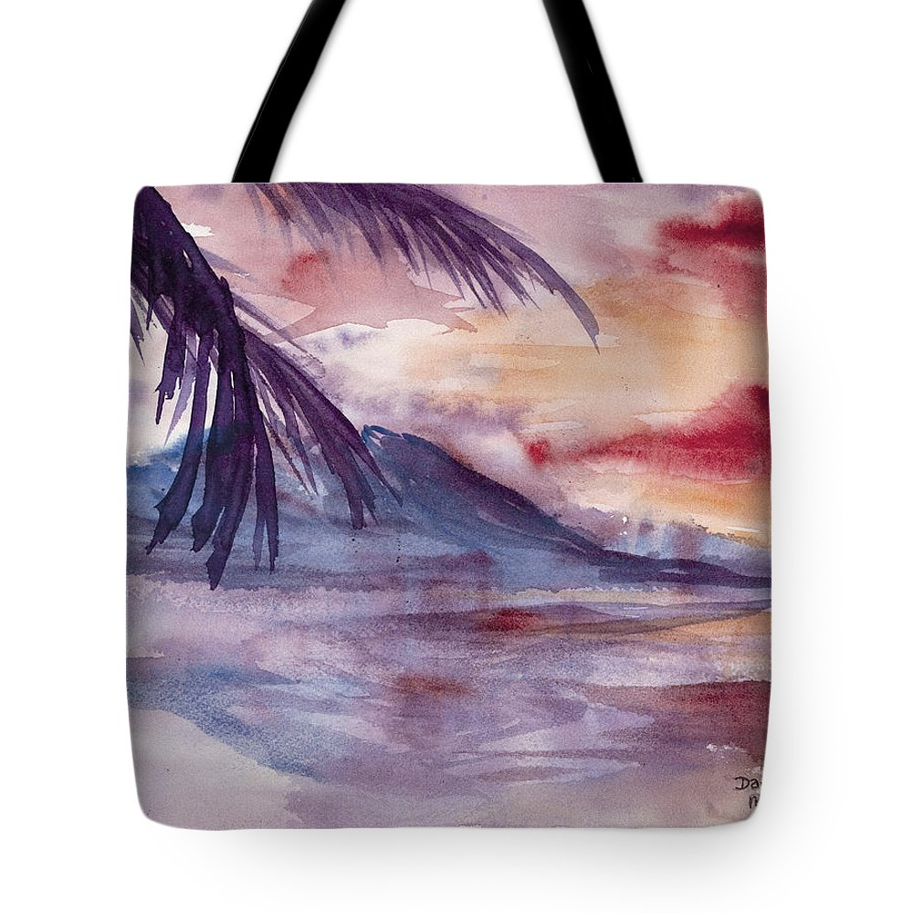 Abstract Tote Bag featuring the painting Topical Mood by Darice Machel McGuire