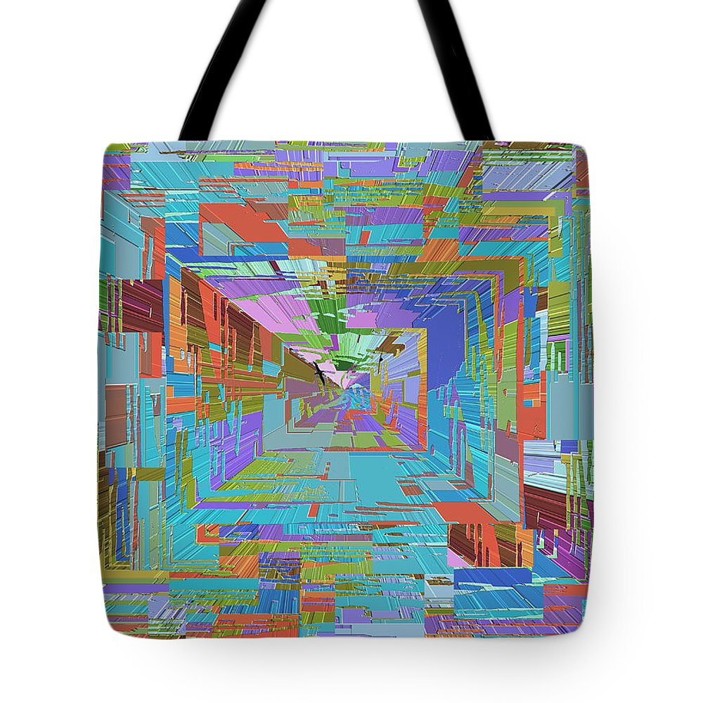 Abstract Tote Bag featuring the digital art Topographic Albatross by Tim Allen