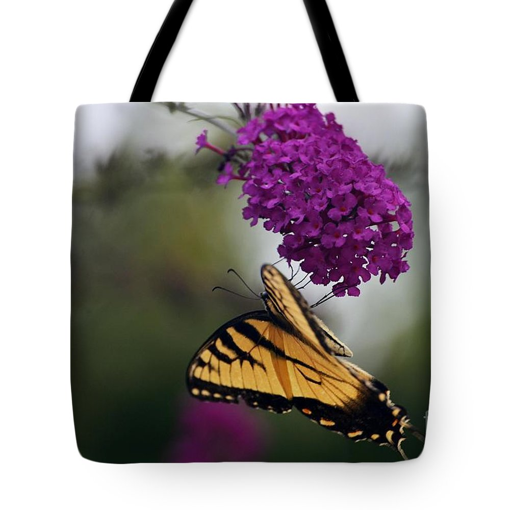 Butterfly Tote Bag featuring the photograph Topsy Turvy by Judy Wolinsky