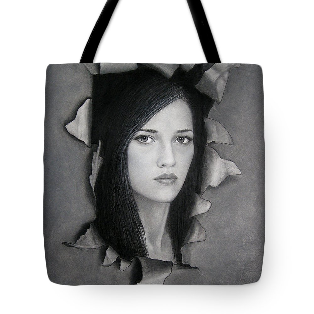 Torn Tote Bag featuring the painting Torn by Lynet McDonald