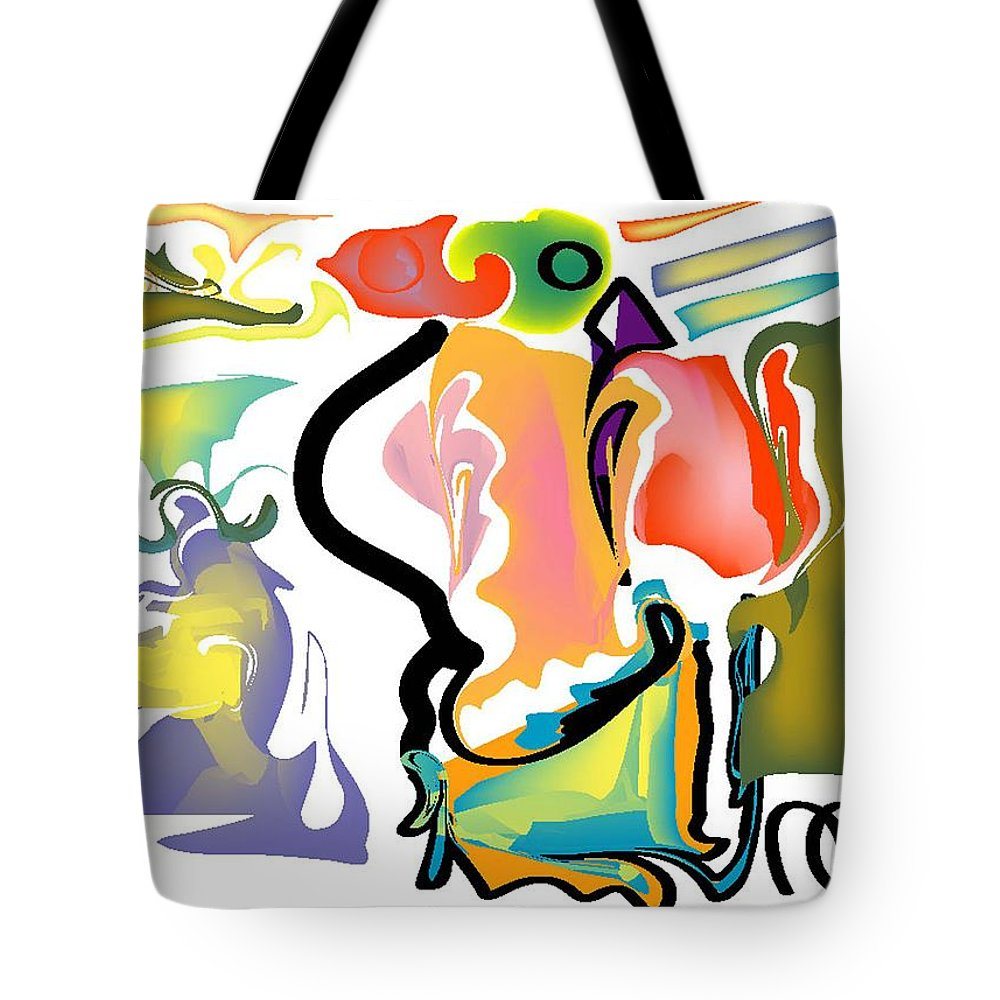 Life's Crazy Tote Bag featuring the digital art Tornadic Rose by Andy Cordan