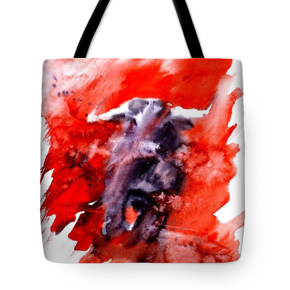 Toro Tote Bag featuring the painting Toro by Zaira Dzhaubaeva