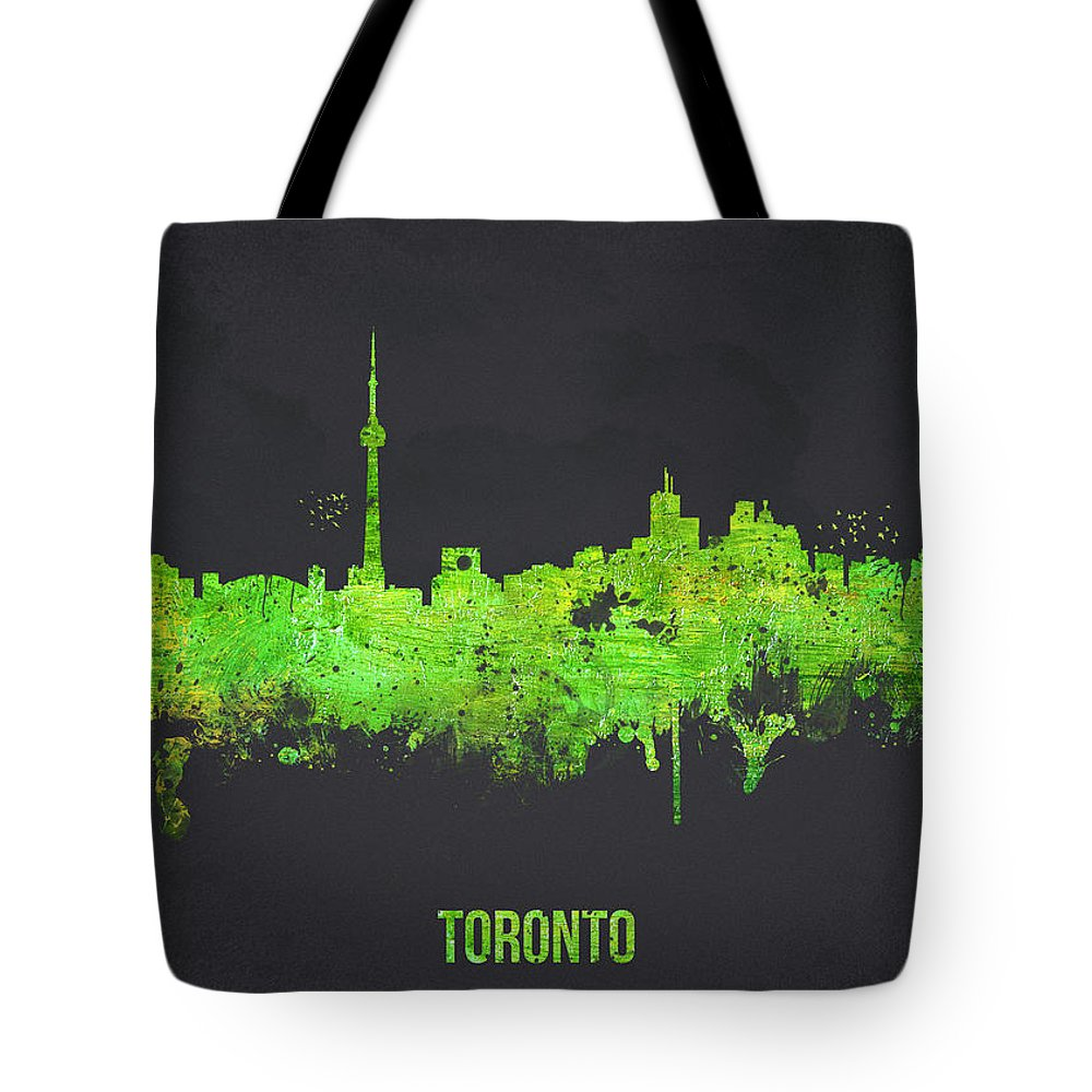Architecture Tote Bag featuring the digital art Toronto Canada by Aged Pixel