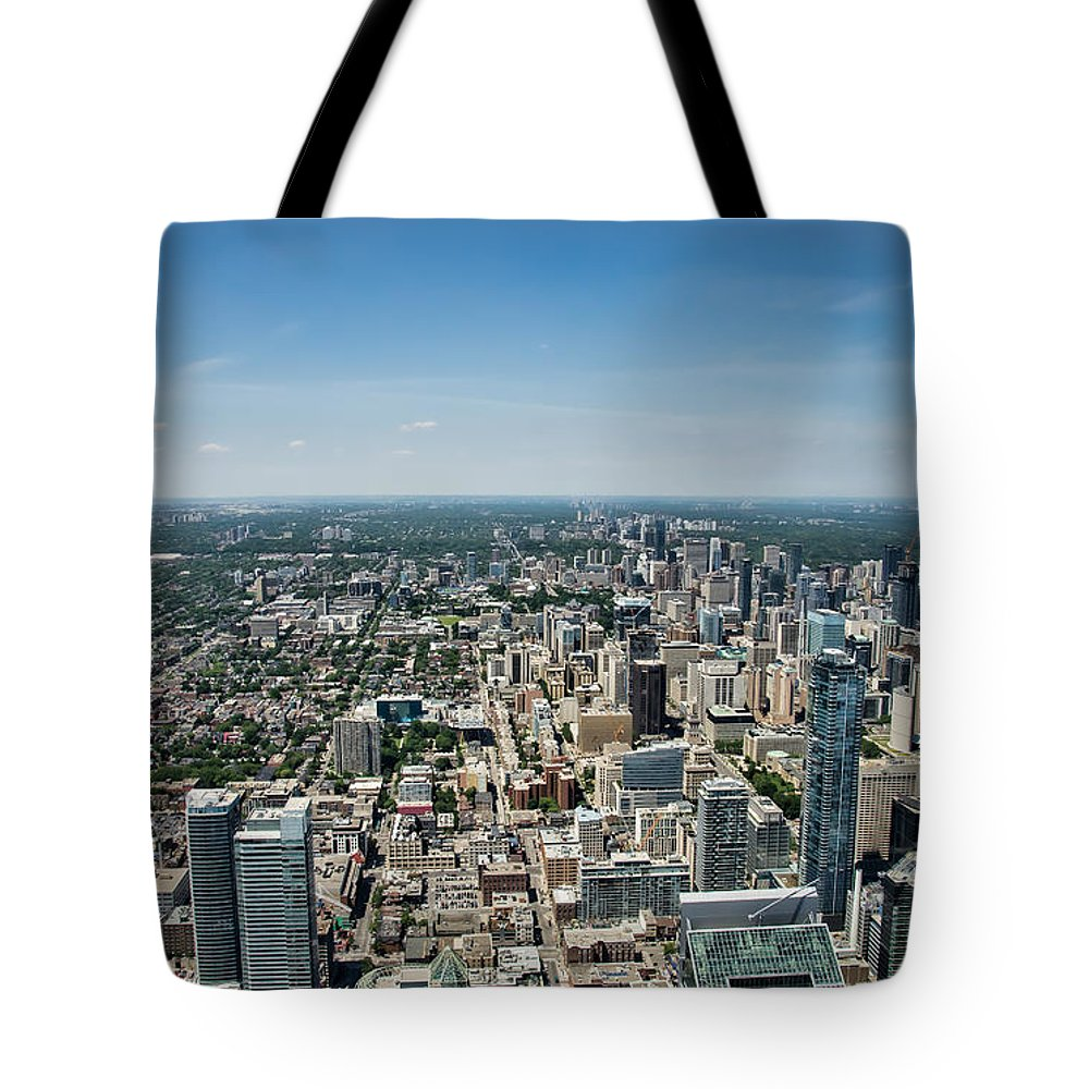 Air Tote Bag featuring the photograph Toronto Divide by James Wheeler