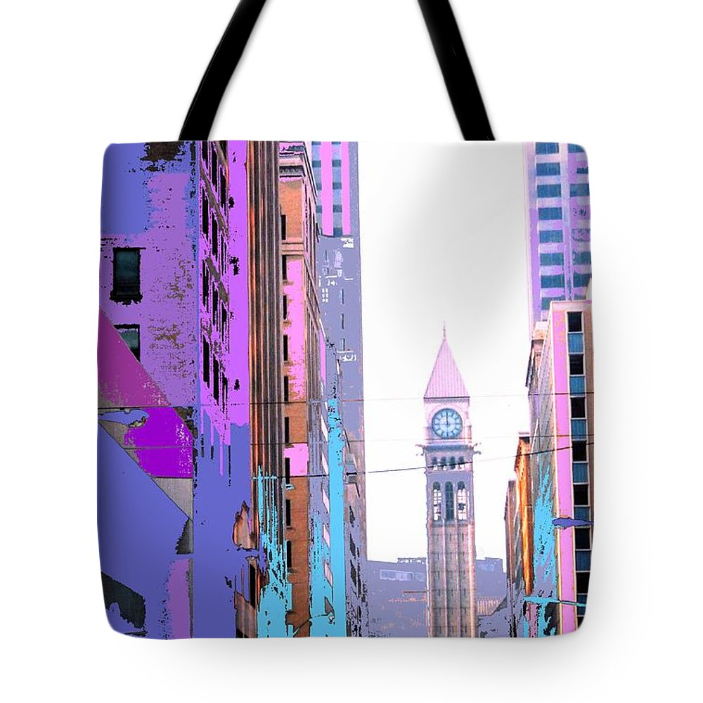 Bay Tote Bag featuring the photograph Toronto Old City Hall by Ian MacDonald