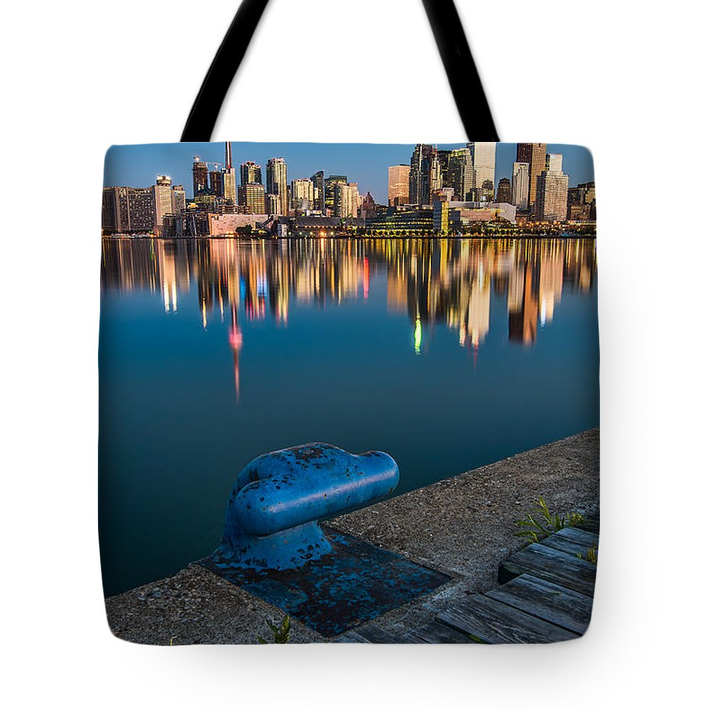 Boards Tote Bag featuring the photograph Toronto Pier by James Wheeler