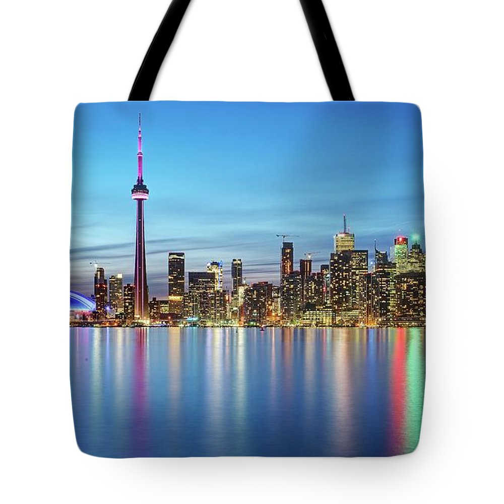 Tranquility Tote Bag featuring the photograph Toronto Skyline by Thomas Kurmeier