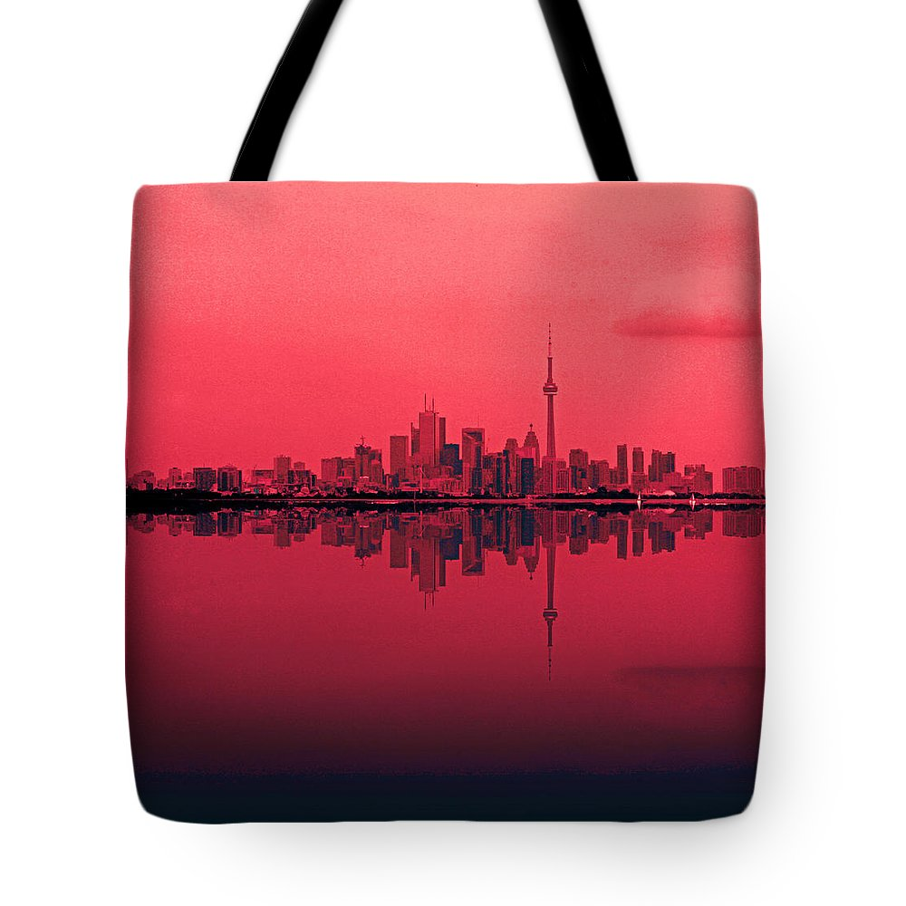 Toronto Tote Bag featuring the photograph Toronto With A Twist by John Stuart Webbstock