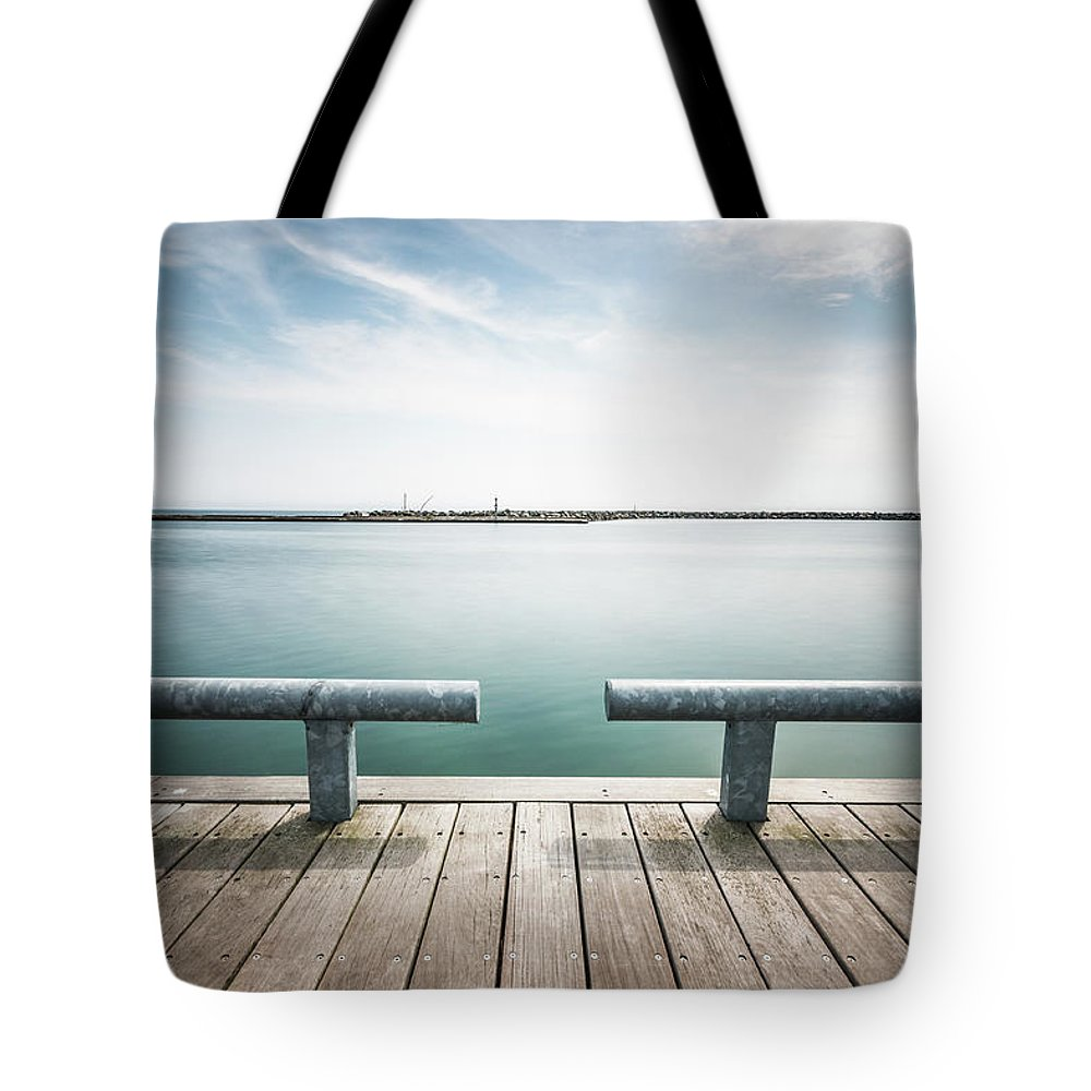 Scenics Tote Bag featuring the photograph Torontos Lakeside by Www.piotrhalka.com