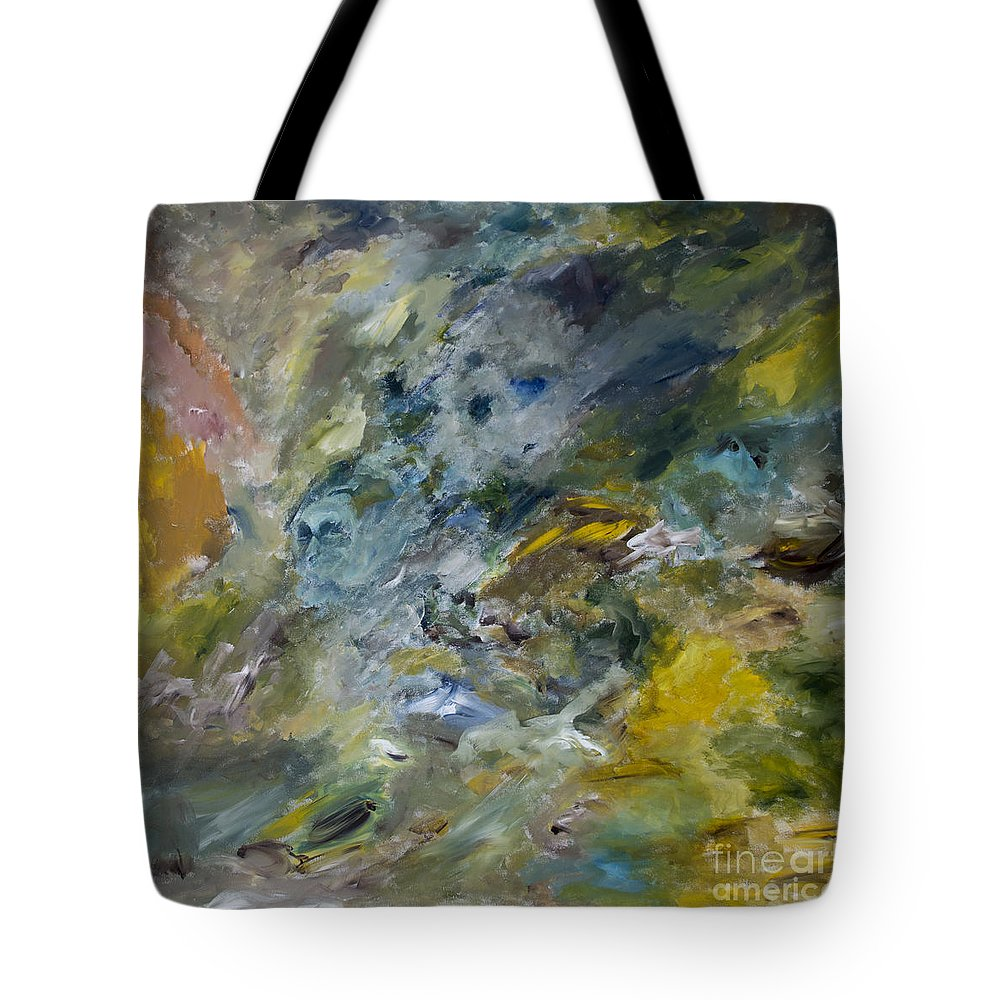Wind Tote Bag featuring the painting Torrent by Goran Nilsson