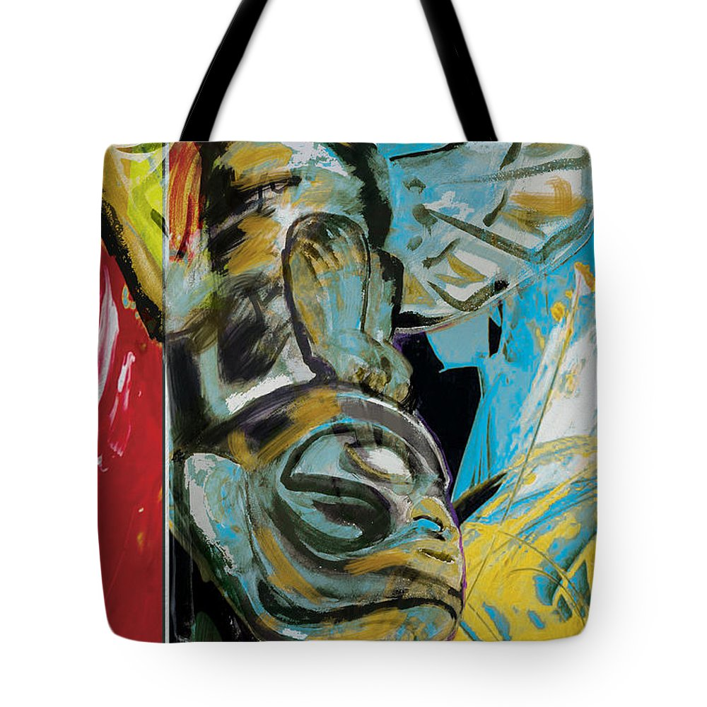 Aboriginals Tote Bag featuring the painting Totem Pole 2 by Corporate Art Task Force