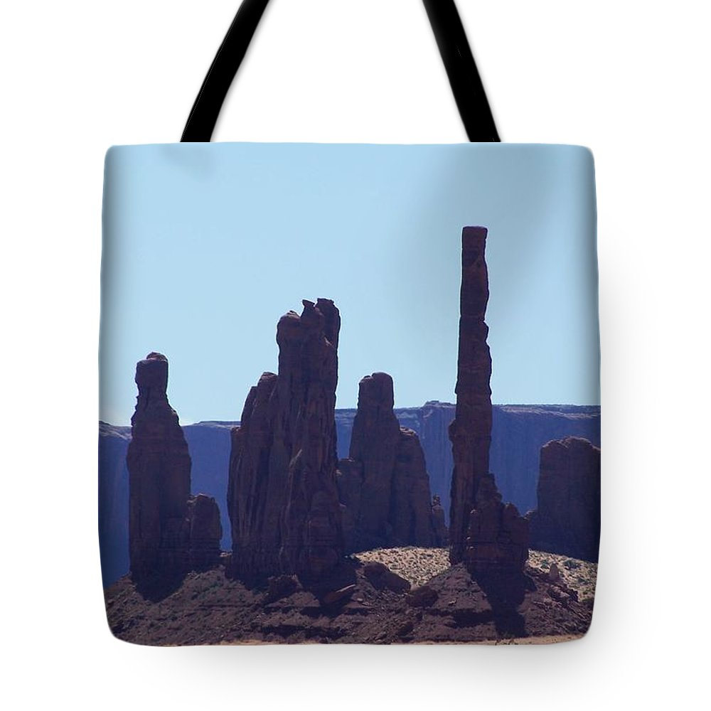 Monument Valley Tote Bag featuring the photograph Totem Pole In Monument Valley by Dany Lison