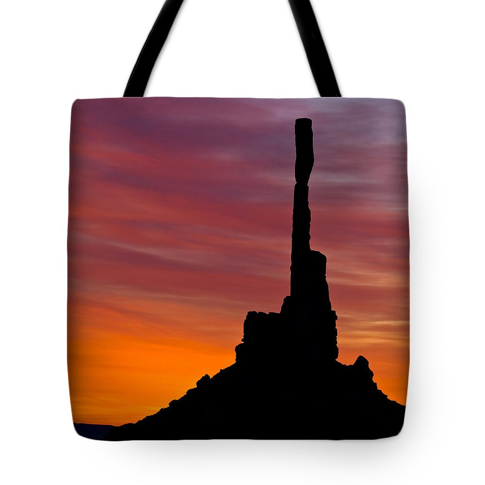 Totem Tote Bag featuring the photograph Totem Pole Sunrise by Susan Candelario