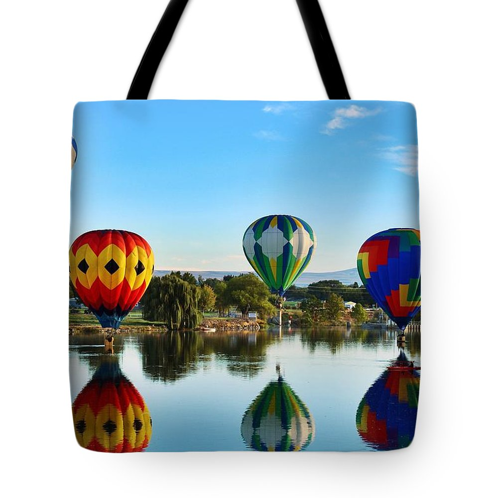 Prosser Tote Bag featuring the photograph Touching Down by Lynn Hopwood