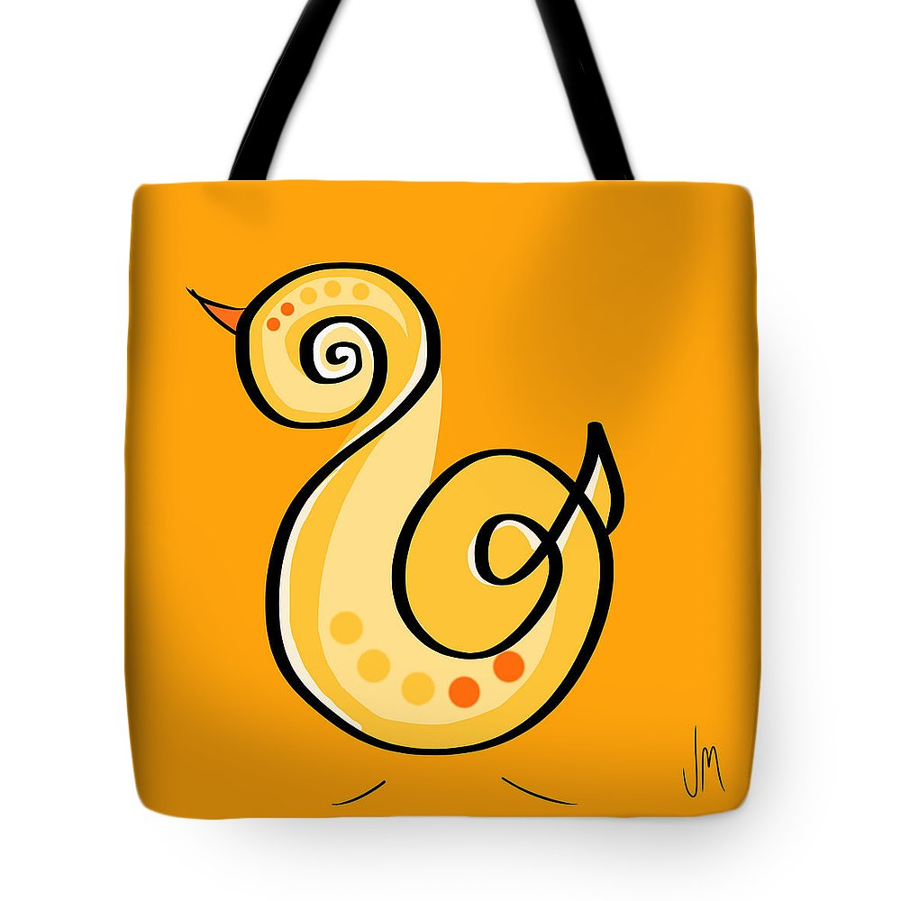 Chick Tote Bag featuring the digital art Thoughts And Colors Series Chick by Veronica Minozzi