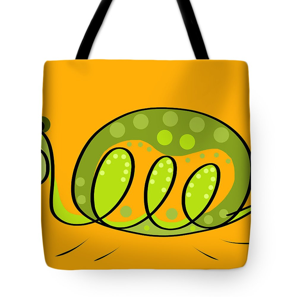 Turtle Tote Bag featuring the digital art Thoughts And Colors Series Turtle by Veronica Minozzi