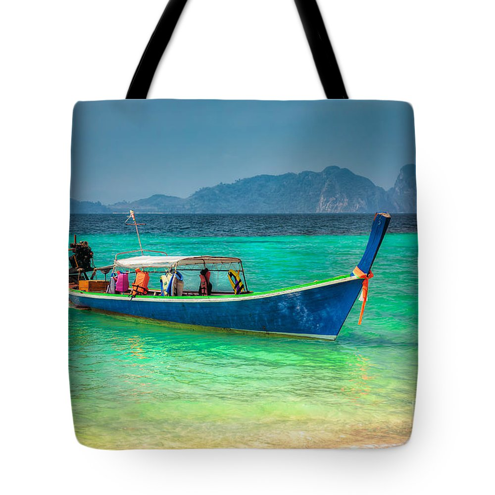 Asia Tote Bag featuring the photograph Tourist Longboat by Adrian Evans
