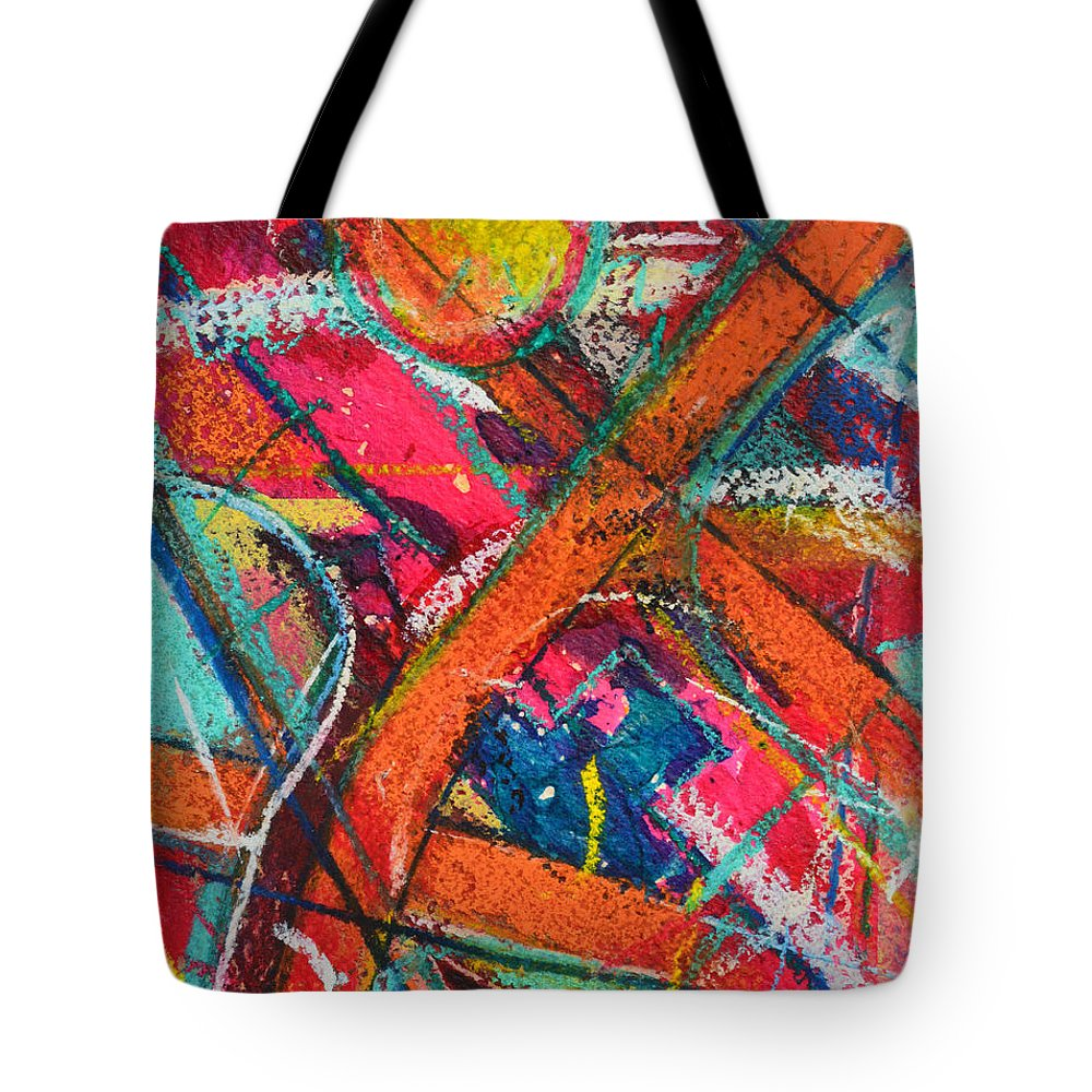 Abstract Tote Bag featuring the painting Towards Light by Ana Maria Edulescu