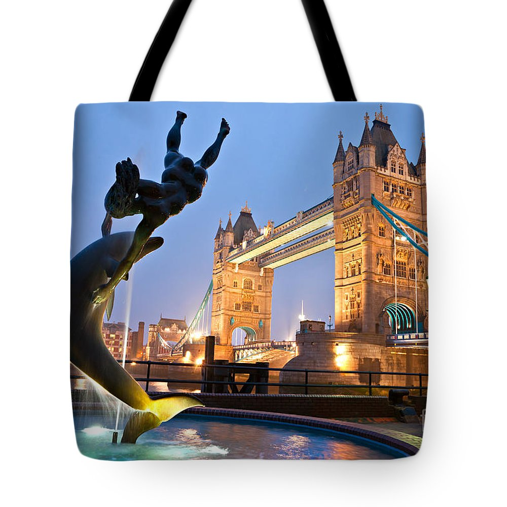 Architecture Tote Bag featuring the photograph Tower Bridge - London by Luciano Mortula