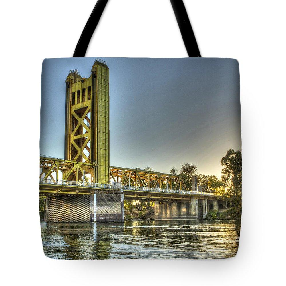 Bridge Tote Bag featuring the photograph Tower Bridge 2 Sacramento by SC Heffner