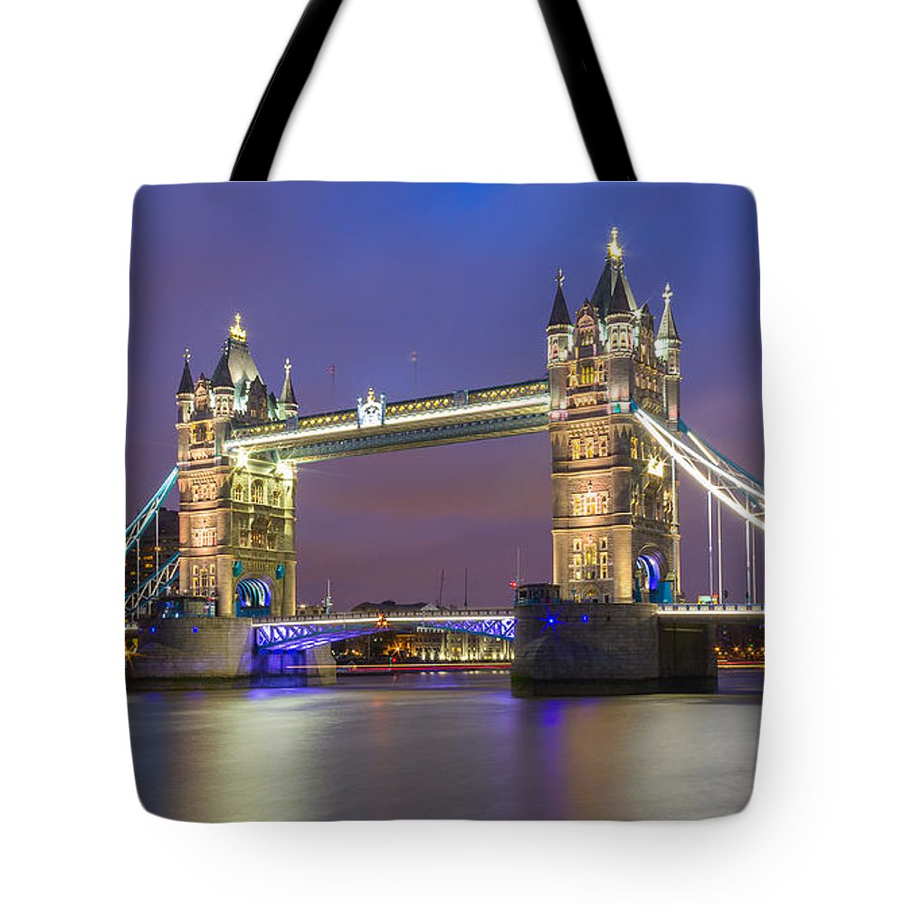 Tower Bridge Tote Bag featuring the photograph Tower Bridge by Travel and Destinations - By Mike Clegg