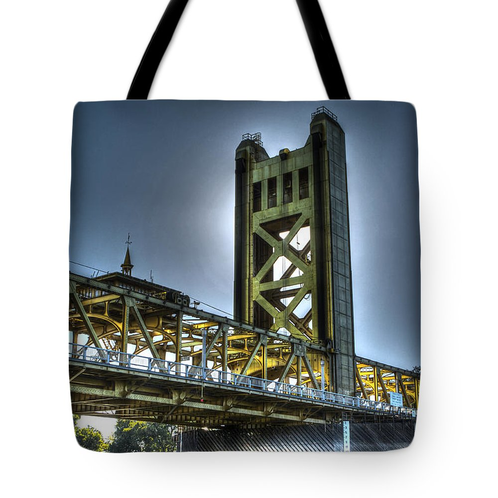 Bridge Tote Bag featuring the photograph Tower Bridge Sacramento by SC Heffner