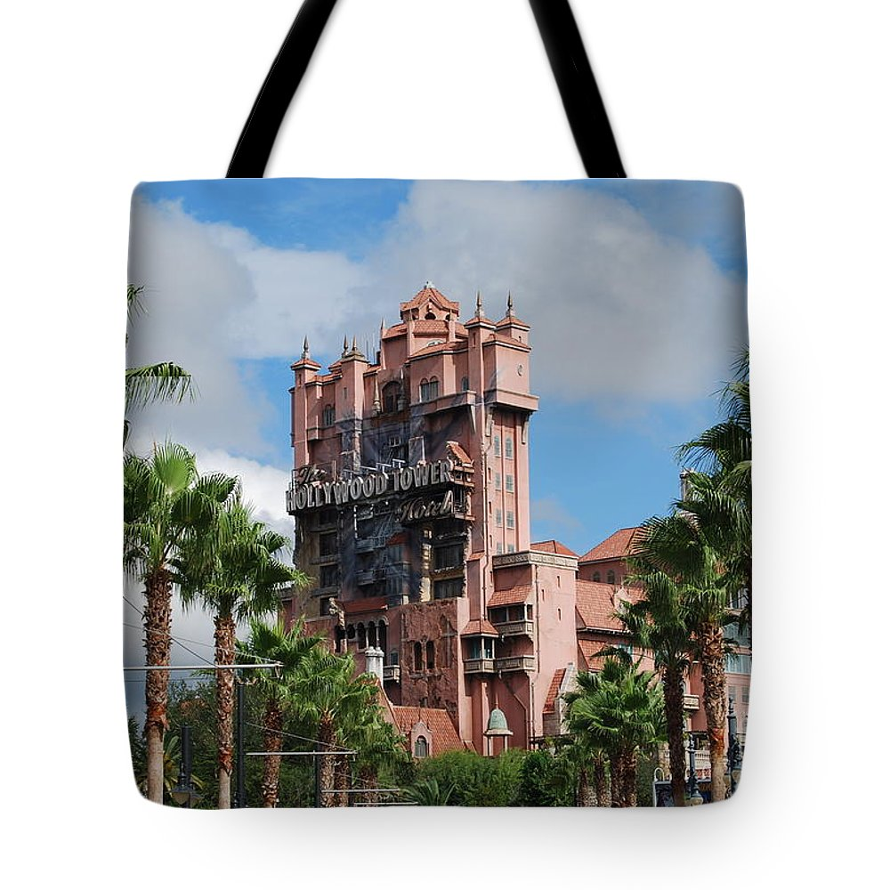 Disney Tote Bag featuring the photograph Tower Of Terror by Eric Liller