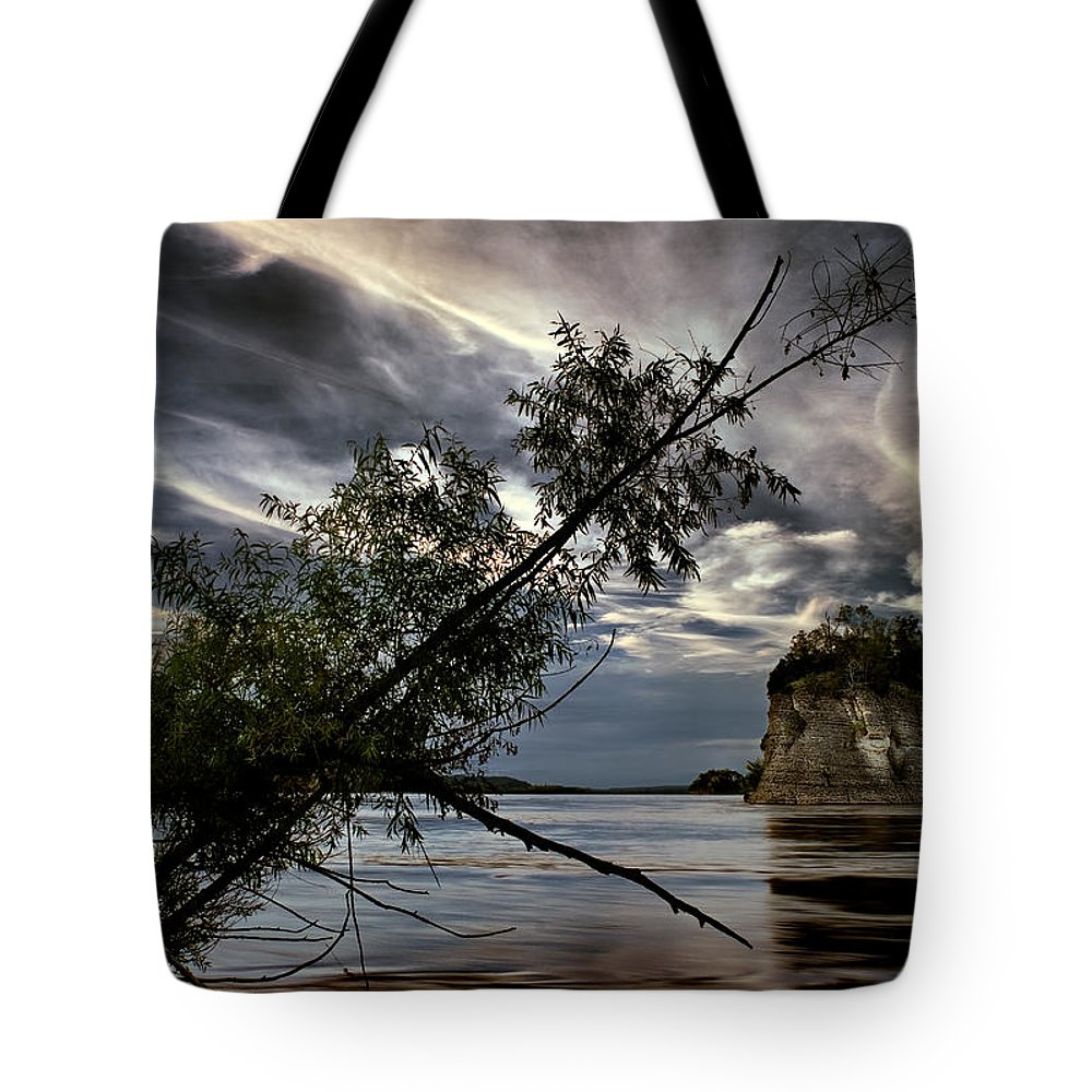 2010 Tote Bag featuring the photograph Tower Rock In The Mississippi River by Robert Charity