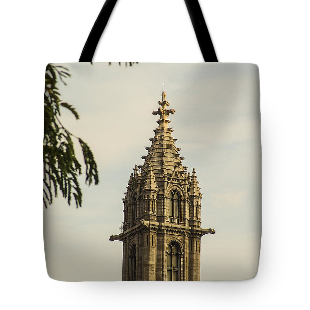 Religion Tote Bag featuring the photograph Tower To Heaven by Eric Swan