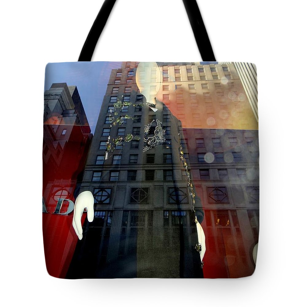 Mannequins Tote Bag featuring the photograph Towering by Ed Weidman