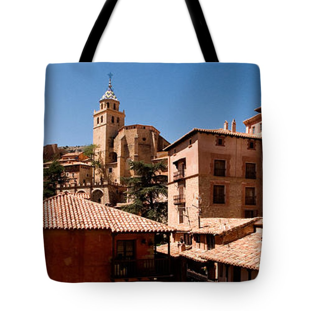 Town In The Red Sierra Tote Bag featuring the photograph Town In The Red Sierra by Weston Westmoreland